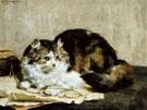 A Tabby Cat 1920 - Charles Van Den Eycken