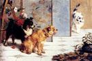 Playful Friends 1892 - Charles Van Den Eycken