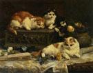 The Three Kittens 1893 - Charles Van Den Eycken