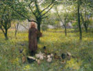 In The Orchard c1892 - Edward Stott