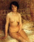 A Seated Nude - Ernest Joseph Laurent