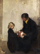 Mutter Mit Kind Und Puppe - Hans Looschen
