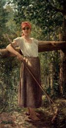 Portrait De Paysanne - Jacqueline Comerre Paton