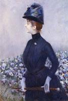 La Femme Aux Fleurs - Paul Cesar Helleu