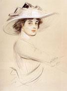 Portrait of A Woman - Paul Cesar Helleu