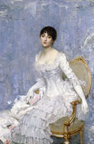 Young Lady In White Around 1880 - Paul Cesar Helleu