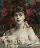 Portrait of A Striking Beauty - Paul Jean Gervais