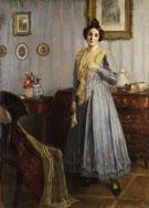 Junge Frau Im Biedermeier Interieur 1917 - Robert Scheffer