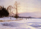 Skaters On A Frozen Pond 1905 - Sigvard Marius Hansen