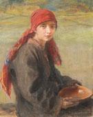Hustsul Girl - Teodor Axentowicz