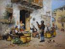 A Market Scene In Rome - Vicente March Y Marco