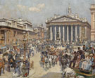 The Bank And The Royal Exchange A 1887 - William Logsdail
