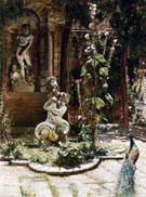 The Garden of The Palazzo Malipiero 1882 - William Logsdail