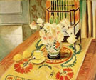 Yellow Roses with Cage of Parakeets 1924 - Henri Matisse