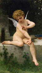 Cupid with Butterfly - Adolphe-William Bouguereau