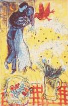 Lovers and Daisies - Marc Chagall