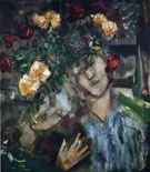 Lovers with Flowers - Marc Chagall