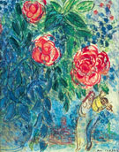 Flowers and Lovers - Marc Chagall