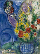 Pair of Lovers with Flowers - Marc Chagall