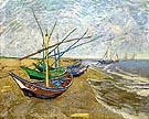 Fishing Boat on the Beach - Vincent van Gogh