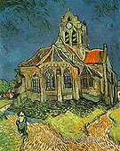 The Church at Auvers - Vincent van Gogh