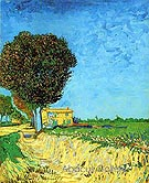 A Lane Near Arles - Vincent van Gogh
