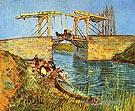 Langlois Bridge at Arles with Women - Vincent van Gogh