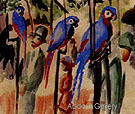 Visiting the Parrots 1914 - August Macke