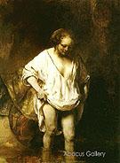 Rembrandt Hendrickje Bathing in a River 1654 - Rembrandt